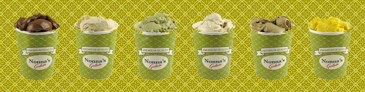 Nonnas gelato smaker glass