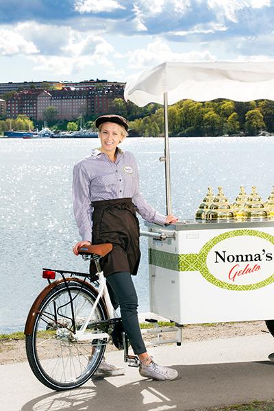 Nonnas glassvagn cykel